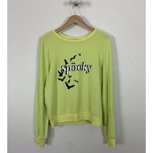 Wildfox Spooky Shirt Top Sweatshirt Baggy Jumper